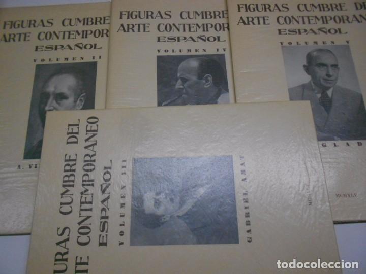 Libros: FIGURAS CUMBRE DEL ARTE CONTEMPORANEO ESPAÑOL, 20 VOLUMENES EN 4 ESTUCHES CON LOMO EN PIEL 27X39 CMS - Foto 5 - 64570379