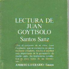 Libros: SANZ, - SANTOS. - LECTURA DE JUAN GOYTISOLO.. Lote 65075002