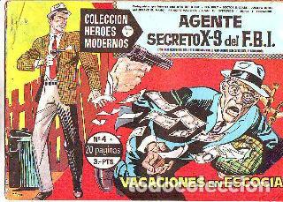 COLECCIÓN HEROES MODERNOS. SERIE C. NUMERO 4 C. AGENTE SECRETO X-9 DEL FBI. VACACIONES EN ESCOCIA. segunda mano
