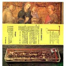 Libros: POSTAL DE LA BASILICA DE SANT FRANCESC D'ASSIS-SACRO CONVENTO (TRIPTICO DESPLEGABLE CON TEXTO AL DOR. Lote 65107238