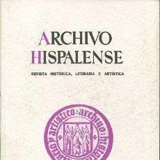 Libros: ARCHIVO HISPALENSE. REVISTA HISTÓRICA, LITERARIA Y ARTÍSTICA. NUMERO 248.. Lote 65396331