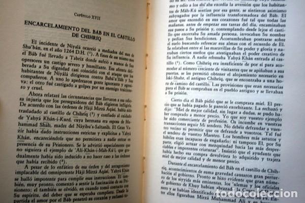 Libros: LOS ROMPEDORES DEL ALBA - BABISMO - NARRACION NABIL DE LOS DIAS TEMPRANEROS DE LA REVELACION BAHA´I - Foto 3 - 66132846
