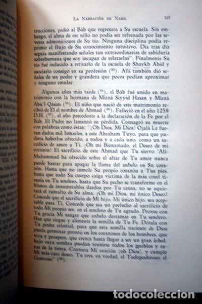 Libros: LOS ROMPEDORES DEL ALBA - BABISMO - NARRACION NABIL DE LOS DIAS TEMPRANEROS DE LA REVELACION BAHA´I - Foto 4 - 66132846