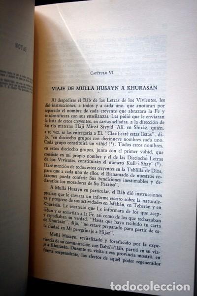 Libros: LOS ROMPEDORES DEL ALBA - BABISMO - NARRACION NABIL DE LOS DIAS TEMPRANEROS DE LA REVELACION BAHA´I - Foto 6 - 66132846