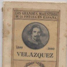 Libros: LOS GRANDES MAESTROS DE LA PINTURA EN ESPAÑA-VELAZQUEZ. Lote 68950977