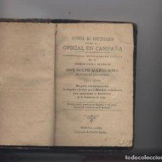 Libros: APUNTES DE FORTIFICACION PARA EL OFICIAL EN CAMPAÑA-SIXTO MARIO SOTO-VITORIA 1882. Lote 72077915