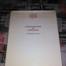 Libros: CONSTITUCIONS DE CATALUNYA INCUNABLE DE 1495. Lote 73927123