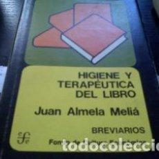Libros: HIGIENE Y TERAPÉUTICA DEL LIBRO COMO NUEVO. Lote 75273855