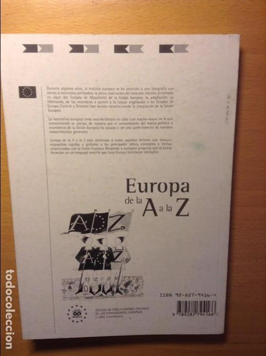 Libros: EUROPA DE LA A A LA Z. GUIA DE LA INTEGRACION EUROPEA - Foto 2 - 81137208