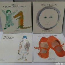 Libros: LOTE ASUN BALZOLA. MUNIA Y LA LUNA. LOS ZAPATOS DE MUNIA. Y EL COCODRILO NARANJA. SEÑORA PILTRONERA.. Lote 82045399