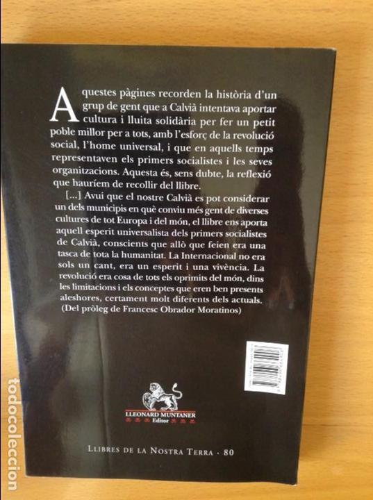 Libros: EL MOVIMENT OBRER A CALVIÀ (1923 - 1936) - MANEL SUAREZ - - Foto 2 - 163506061