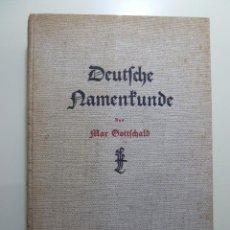 Libros: DEUTFCHE NAMENTUNDE - MAR GOTTFCHALD. Lote 84162460