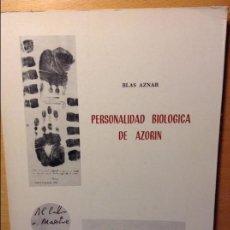 Libros: PERSONALIDAD BIOLÓGICA DE AZORÍN - BLAS AZNAR -. Lote 84931860