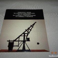 Libros: MÁQUINAS ARTES DE CONSTRUCCION PORTUARIA EXPOSICION PUERTOS FORTIFICACIONES EN AMERICA Y FILIPINAS. Lote 84964920