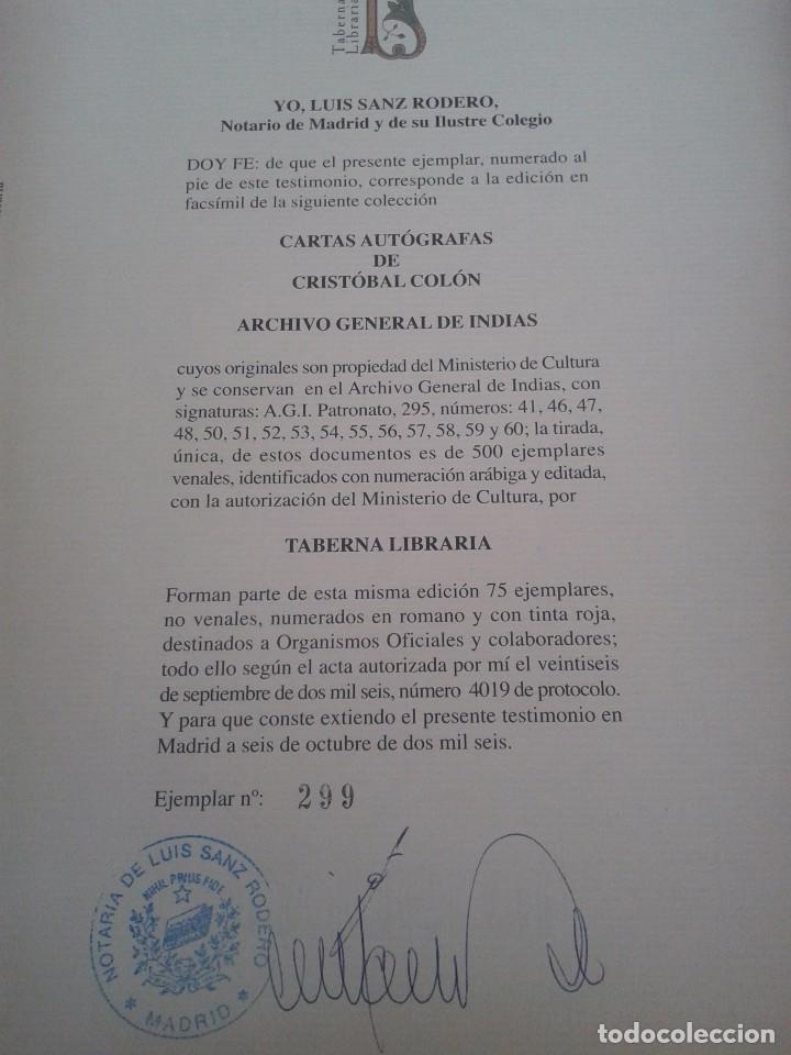 Libros: CARTAS AUTOGRAFAS DE CRISTOBAL COLON - ARCHIVO GENERAL DE INDIAS -- EDICION CONMEMORATIVA -- - Foto 4 - 85066320