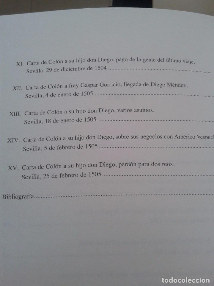 Libros: CARTAS AUTOGRAFAS DE CRISTOBAL COLON - ARCHIVO GENERAL DE INDIAS -- EDICION CONMEMORATIVA -- - Foto 8 - 85066320