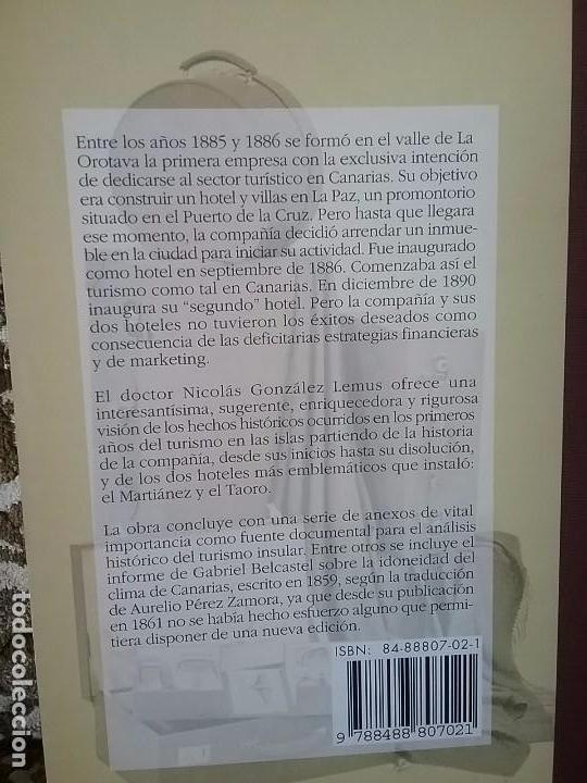 Libros: Del hotel Martianez al Hotel Taoro, de Nicolás González Lemus. Dedicado (Canarias, turismo) - Foto 2 - 85331736