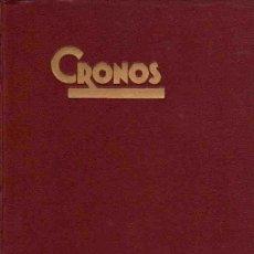 Libros: CRONOS. - NO CONSTA AUTOR. Lote 88157318