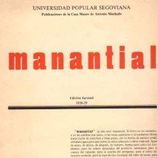 Libros: MANANTIAL - NO CONSTA AUTOR. Lote 88167844