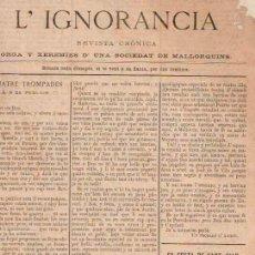 Libros: L'IGNORANCIA - NO CONSTA AUTOR. Lote 88188858