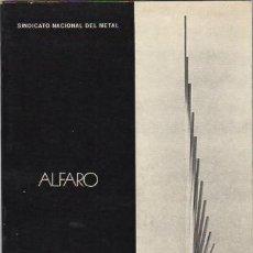 Libros: ALFARO - NO CONSTA AUTOR. Lote 88193328