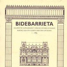 Libros: BIDEBARRIETA - NO CONSTA AUTOR. Lote 88222519