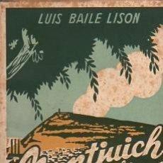 Livres: MONTJUICH DE ANTAÑO. - BAILE LISON, LUIS/PRÓLOGO: JOAQUÍN MONTANER. ILUSTRACIONES: CALVO BUENO. Lote 88237387