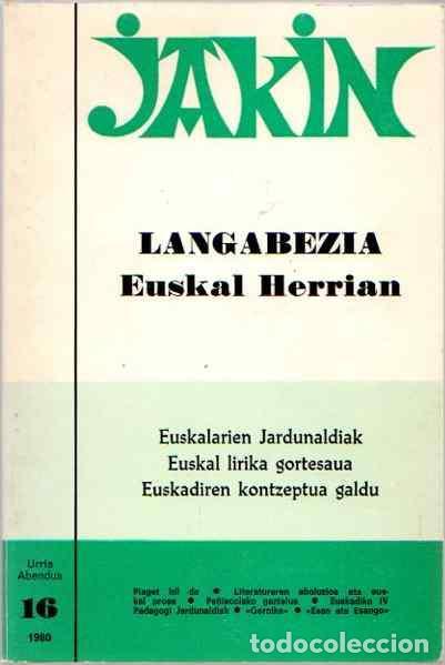 LANGABEZIA EUSKAL HERRIAN - NO CONSTA AUTOR (Libros sin clasificar)
