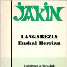 Libros: LANGABEZIA EUSKAL HERRIAN - NO CONSTA AUTOR. Lote 88248552