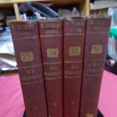 Libros: MIS MEMORIAS. ALEJANDRO DUMAS (PADRE). OBRA COMPLETA. 4 TOMOS. CASA EDITORIAL DE VIUDA DE LUIS TASSO. Lote 89274712