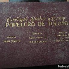 Libros: RARISIMO CATALOGO DE MUESTRAS DE PAPEL, CON LISTA DE PRECIOS DEL AÑO 1949. PAPELERA DE TOLOSA. Lote 91103790