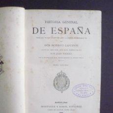 Libros: HISTORIA GENERAL DE ESPAÑA DESDE LOS TIEMPOS PRIMITIVOS HASTA LA MUERTE DE FERNANDO VII. TOMO III. -. Lote 91290012