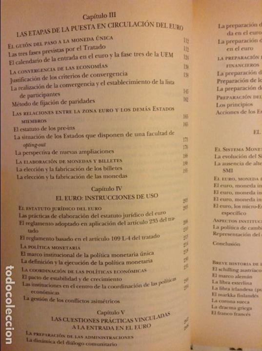 Libros: EL EURO. HISTORIA DE UNA IDEA (YVES-THIBAULT DE SILGUY) - Foto 5 - 91487965