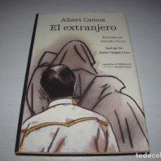 Libros: EL EXTRANJERO - ALBERT CAMUS - ILUSTRADO POR EDUARDO ÚRCULO - EPILOGO MARIO VARGAS LLOSA. Lote 92164430