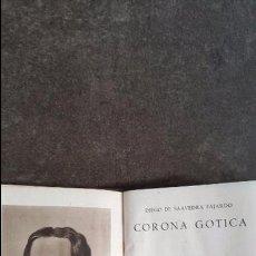 Libros: CORONA GOTICA. DIEGO DE SAAVEDRA FAJARDO. AGUILAR 1944. CRISOL 55. PIEL.. Lote 93470785