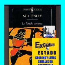 Libros: LA GRECIA ANTIGUA - ECONOMÍA Y SOCIEDAD - M. I. FINLEY - CRÍTICA - EXCELENTE. Lote 95495259