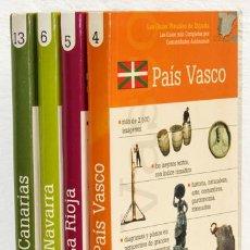 Libros: LAS GUÍAS VISUALES DE ESPAÑA: LAS GUÍAS MÁS COMPLETAS POR COMUNIDADES AUTÓNOMAS (4 VOLS.) (CB). Lote 95615203