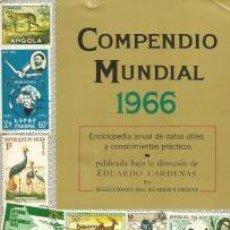 Libros: COMPENDIO MUNDIAL 1966 – EDUARDO CÁRDENAS (DIR.). Lote 95716927