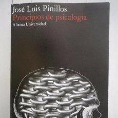 Libros: JOSÉ LUIS PINILLOS-PRINCIPIOS DE PSICOLOGÍA-ALIANZA EDITORIAL. Lote 95788646
