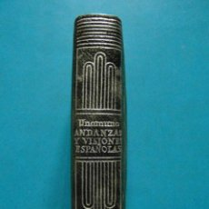 Libros: MINI LIBRO ANDANZAS Y VISIONES ESPAÑOLAS. MIGUEL DE UNAMUNO. Nº 011. EDITORIAL AGUILAR 1957. Lote 95886231