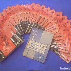 Libros: CURSO MECÁNICO DE AUTOMÓVILES. CEAC 1963 (8ª EDIC.). CURSOS CORRESPONDENCIA, 25 FASCÍCULOS (COMPLETA. Lote 96173791