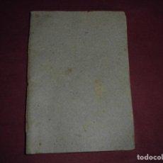 Libros: MAGNIFICO LIBRO ANTIGUO DEL 1853 REGLAMENTO O ESTATUTOS. Lote 96544503