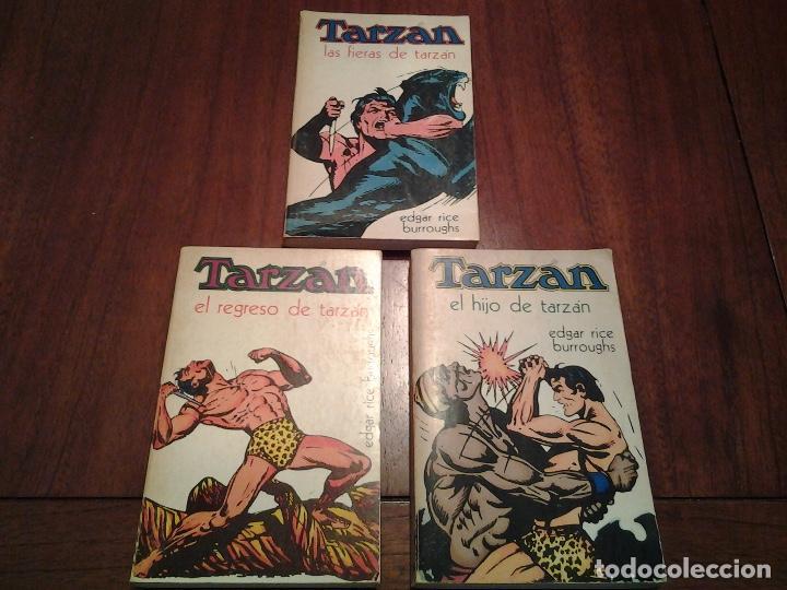 EL REGRESO DE TARZAN - LAS FIERAS DE TARZAN - EL HIJO DE TARZAN - EDITORIAL NOVARO - AÑO 1972 (Libros Nuevos - Literatura - Narrativa - Aventuras)