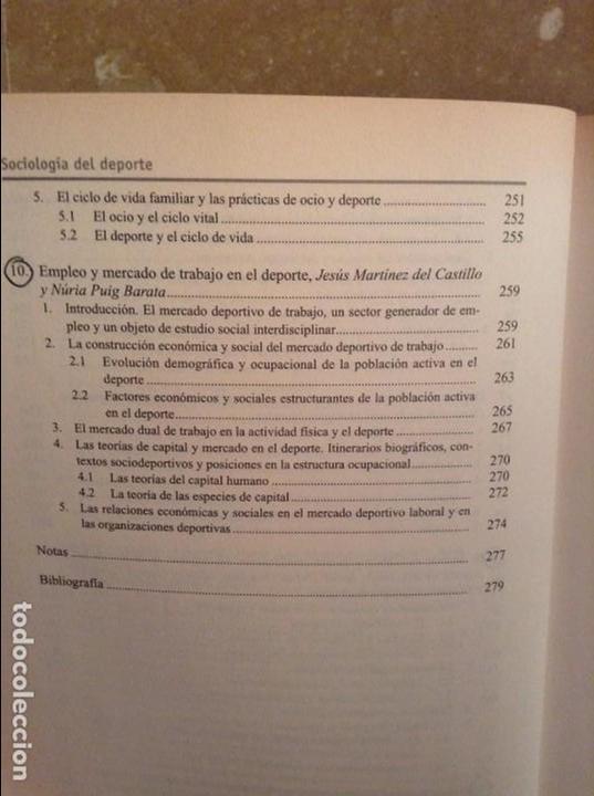 Libros: SOCIOLOGIA DEL DEPORTE - MANUEL GARCIA FERRANDO Y OTROS AUTORES - ALIANZA EDITORIAL - Foto 7 - 164976708
