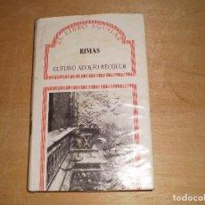 Libros: RIMAS GUSTAVO ADOLFO BECQUER EL LIBRO AGUILAR. Lote 97804843