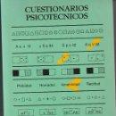 Libros: CUESTIONARIOS PSICOTECNICOS . Lote 98014703