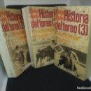 Libros: TAUROMAQUIA. HISTORIA DEL TOREO. 3 TOMOS. Lote 98067267