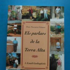 Libros: ELS PARLARS DE LA TERRA ALTA.2 VOL. 1.ESTUDI GEOLINGÜESTIC I 2.ATLAS LINGÜISTIC. 1996. DIP. TARRAGON. Lote 98247775