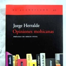 Libros: OPINIONES MOHICANAS. Lote 98521556