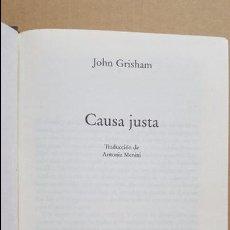 Libros: TAPAS DURAS.- CAUSA JUSTA.- JOHN GRISHAM.- CIRCULO DE LECTORES.- 1998. Lote 98575531
